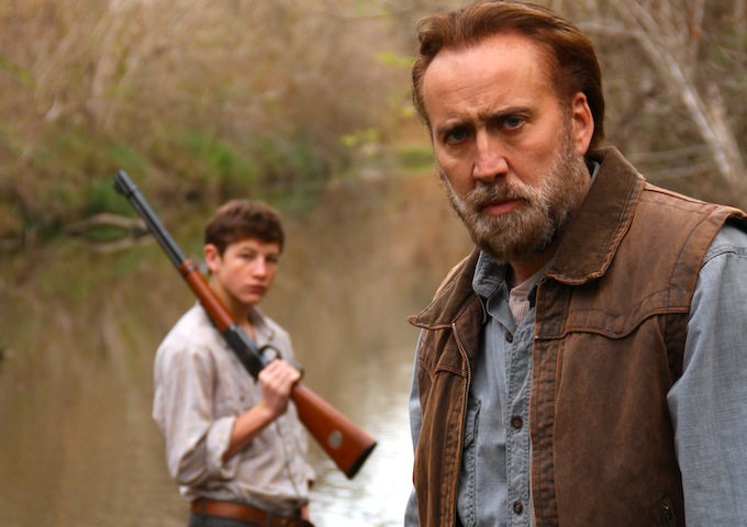 The Sheridan and Nicolas Cage in the movie JOE. © 2013 Joe Ransom, LLC. Artwork & Supplementary Materials © 2014 Lions Gate Entertainment Inc.