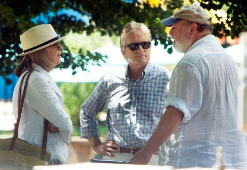 Diane Keaton, Michael Douglas and Rob Reiner on the set of AND SO IT GOES.